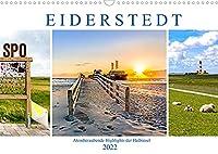 EIDERSTEDT-HIGHLIGHTS (Wandkalender 2022 DIN A3 quer): Fastzinierende Eindruecke der Halbinsel (Monatskalender, 14 Seiten )