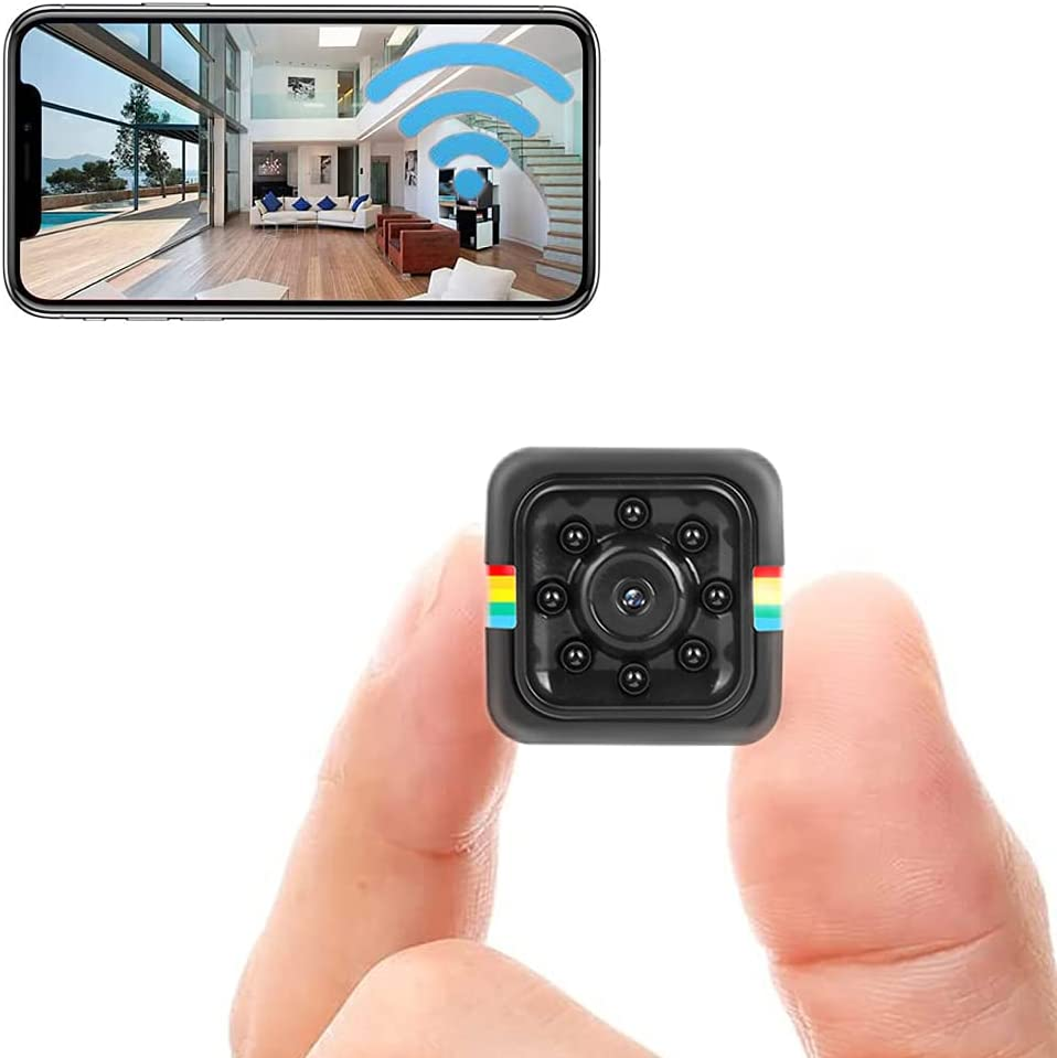 Wireless WiFi Camera Portable Mini Small Nanny Cam Camera Home Security System,Audio and Video Recording,Built-in Battery,Night Vision and Motion Detection, Suitable Home Indoor Outdoor Office
