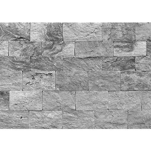 Fototapete Stein - ALLE STEINMOTIVE auf einen Blick ! Vlies PREMIUM PLUS HiQ - OEKO-TEX Standard 100-400x280 cm - SAND STONE WALL - ANTHRAZIT - Steintapete Wandbild Steinwand Sandstein - no. 4303