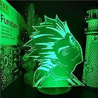 GMYXSW 3D LED LEDの夜ライトHaikyuu LEDアニメランプ漫画の幻想の夜ライト16色の変更ランプ男の子と女の子のための家の装飾