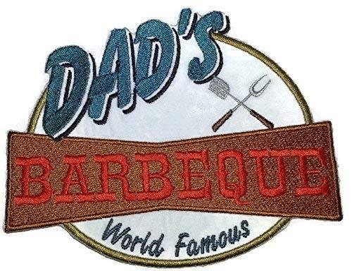 BeyondVision Lets go Outback voor barbecueschort geborduurd ijzer naaien patches 6.1 x 4,9 grijs, zwart, rood
