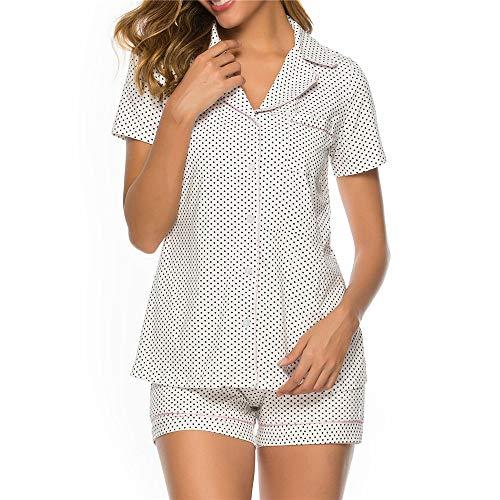 Pijamas Mujer Verano de Algodón Mezclado Camisones Manga