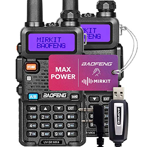 2PCs Baofeng Radios UV-5R MK4 MP Max Power with Programming Cable Compatible with Baofeng Ham Radio Mirkit Edition. Buy it now for 133.75