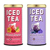 The Republic of Tea Fruity and Floral Iced Tea Combo Pack, Sangria Hibiscus Iced Tea and Blueberry Lavender Iced Tea