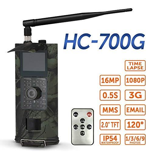 Wildkamera mit bewegungsmelder nachtsicht 2 16MP / 3G SMS-Jagd-Kamera Outdoor-Tracking-Kamera Tier-Scouting Foto Trap Kamera PIR Infrarot-Nachtsicht-Kamera Wilde ( Color : Model 2 HC 700G )