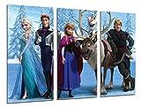 Poster Fotográfico Frozen, Dibujos Animados, Elsa, Olaf, Hans Tamaño total: 97 x 62 cm XXL