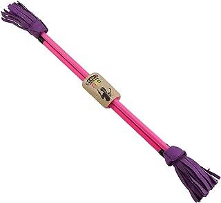 Juggle Dream Neo Fibreglass Flower Devilstick & Fibreglass Hand Control Sticks (Pink/Purple)