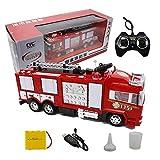 Lotees Niños Rc carro del coche sonidos de las luces Spray de agua de juguete de control remoto de coches coche eléctrico bombero del coche de bomberos sirenas de coches de música ligera del Ampliació