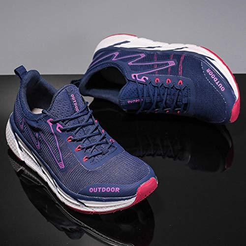 Aerlan Men's and Women's Sports Shoes,Zapatillas con Suela pisada,Zapatos de Senderismo Zapatos de Senderismo Transpirables al Aire Libre Zapatos para Correr Antideslizantes-Female_39#