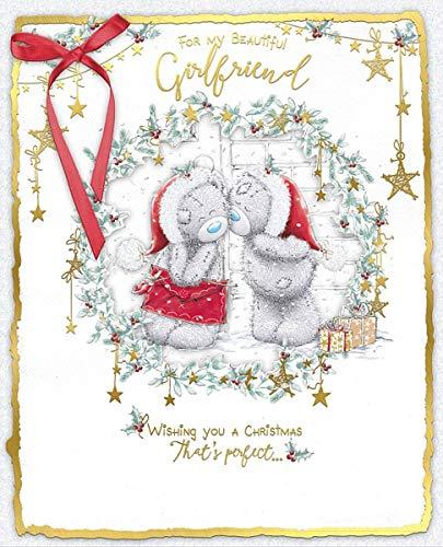 Cesto Me to You in scatola, realizzato a mano, con biglietto d' auguri di Natale bella fidanzata