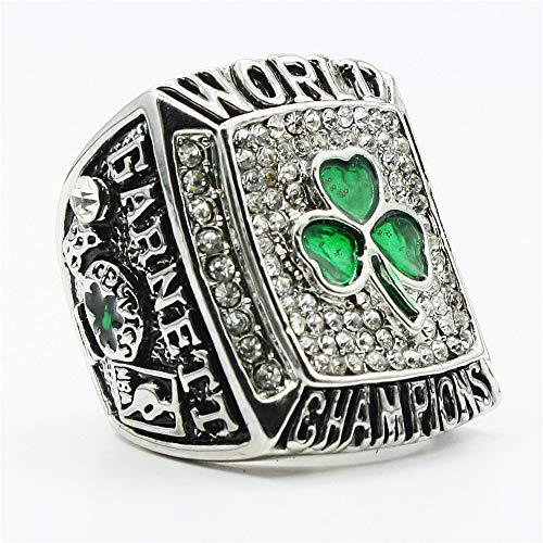 Sentoo 2008 Celtics Championship Ring Basketball Garnett Championship Ring Replica Silver (Ring,11)