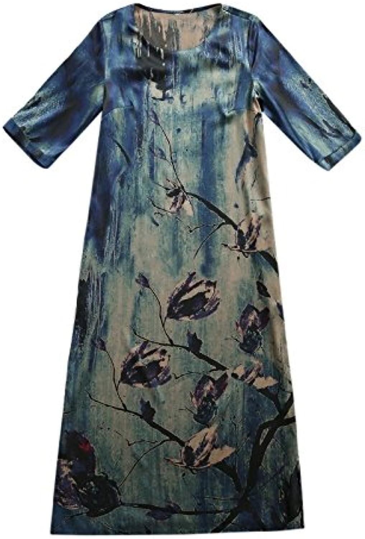 XIURONG A Long Skirt in A Silk Silk Dress