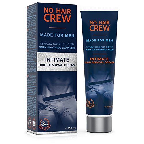 NO HAIR CREW Crema Depilatoria Intime di Prima Qualità – Per Uomo 100 ml