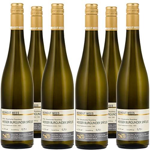 Weingut Mees Weißburgunder Trocken Spätlese Kreuznacher Rosenberg 2017 Prämiert Weißwein Nahe Deutschland Wein (Weinpaket 6 x 750 ml) 100% Weißer Burgunder