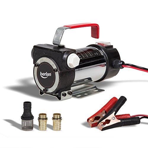 Berlan 12 V Pompe a Fuel 200 W 230 V Pompe gasoil 40 l/min autoaspirant