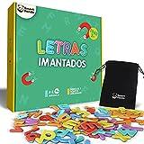 Letras Magnéticas para Niños - Juego de Abecedario Magnético - Imanes Gruesos de Espuma para la Nevera - Juegos Educativos del Abecedario - con Símbolos Españoles