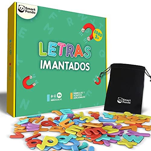 Letras Magnéticas para Niños - 68 Letras y Símbolos- Juego de Abecedario Magnético - Imanes Gruesos de Espuma para la Nevera - Juegos Educativos del Abecedario - con Símbolos Españoles