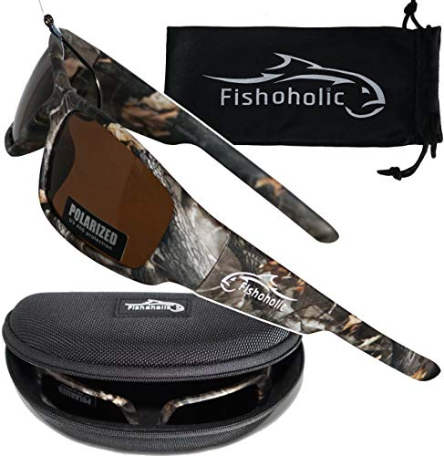 Fishoholic Polarized Fishing Sunglasses (5 Color Options: BlueMirror. Ice....