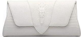 Damen-Clutch-Clutch mit Krokodil-Muster, Echtleder, Schultertasche, Cross-Body-Geldbörsen, Hochzeits-Clutches