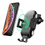 Wireless Car Charger Mount, Automatic Clamping Wireless Qi Fast Charging Phone Holder for Car, 10W/7.5W/5W Charger Compatible iPhone 11 Xs Max XR X 8 8 Plus, Samsung Galaxy S10 S10+S9 S9+ S8 Note 9