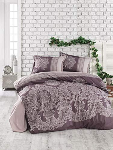 RoseBlue Clasy Ranforce - Juego de funda nórdica para cama individual, color marrón