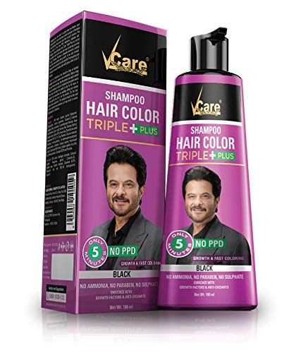 Vcare Shampoo Hair Black Color Triple + & Bigen Beard Black color B101