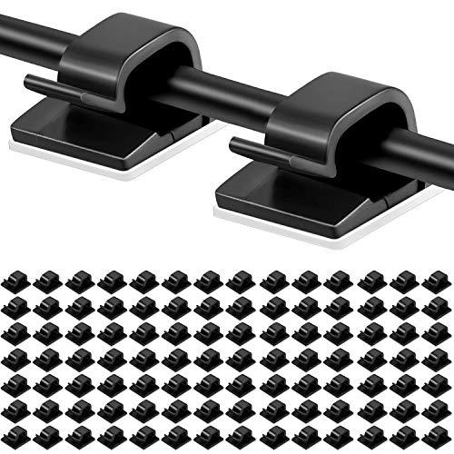 100 piezas Clips adhesivos para cables Soporte de gestión de cables Organizador...