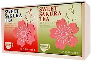 Sweet cherry tea (tea bag 2g×10P) 2box Sakura green Tea & Black tea set