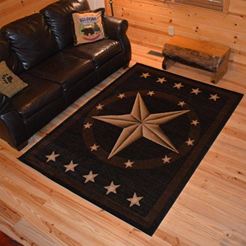 Rustic Lodge, Texas Star Area Rug, 7'10