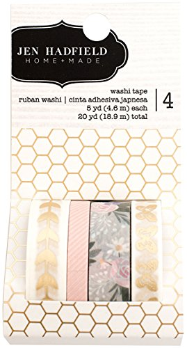 American Crafts Jen Hadfield Heart of Home 4 Piece Gold Foil Washi Tape