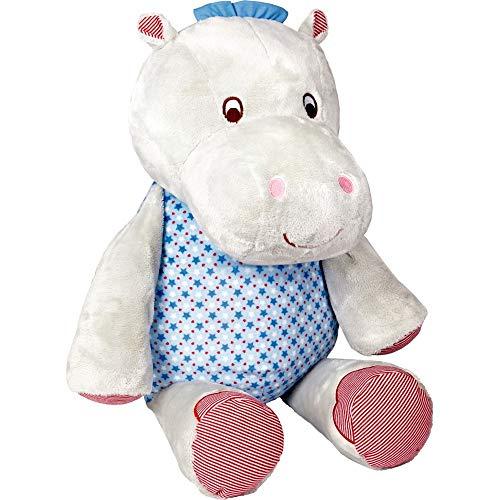 Die Spiegelburg hipp,hipp,hippo! hippopotame peluche 42x63 cm bleu Pour le bonheur du bébé
