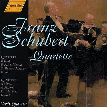 Schubert: String Quartet No. 13 in A Minor, D. 804 / String Quartet No. 3 in B-Flat Major, D. 36