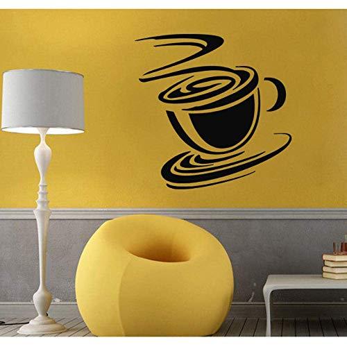 Muurtattoos vinyl sticker kunst wandfoto keuken decor theebeker koffiemok 56X88Cm