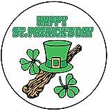 AK Giftshop - Decoración para Tarta de San Patricio, 20 cm, círculo, Sombrero de Copa Irlandesa, Feliz día de San Patricio