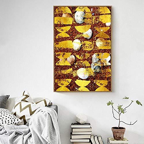 Sanzangtang Posters en kunstdrukken op canvas landschapsfoto's op kunstwand, wooncultuur, strand schelpen zonder lijst