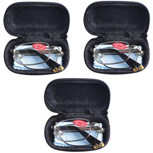 3 PRS Southern Seas +0,75 a +6,0 gafas plegables de lectura y viaje, con estuche, 16 puntos fuertes disponibles.