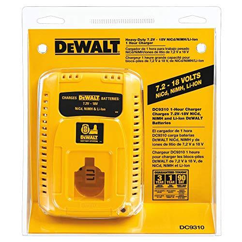 DEWALT Charger for 7.2V-18V Battery, 1-Hour Fast Charging (DC9310)