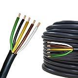 Cable eléctrico multipolar 2-13 hilos para automovìl remolque 5m, 10m, 20m o 50m selección: 20m metros, 5 hilos 5 x 1.5 mm² cable redondo