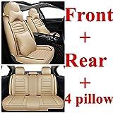 XIARI Funda Universal para Asiento De Coche para Jeep Grand Cherokee Compass Renegade Wrangler Jk Wrangler Mini Cooper Land Rover Freelander Discovery-Beige Luxury