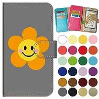 ガールズネオ apple iPhone 12 / iPhone 12 Pro ケース 手帳型 カメラ開口有 (SMILE*flower オレンジ) Apple iPhone12-PD-GYR-YSZ-0243