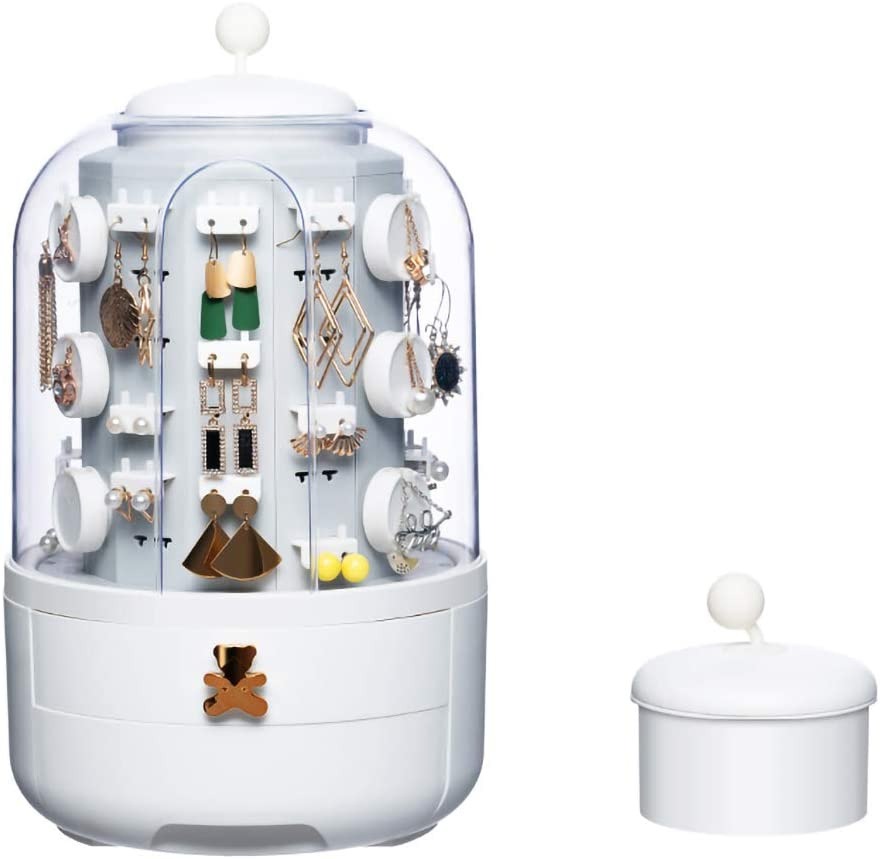 Limited time cheap sale Ihuiniya swivel transparent jewelry box lu end - household high New item