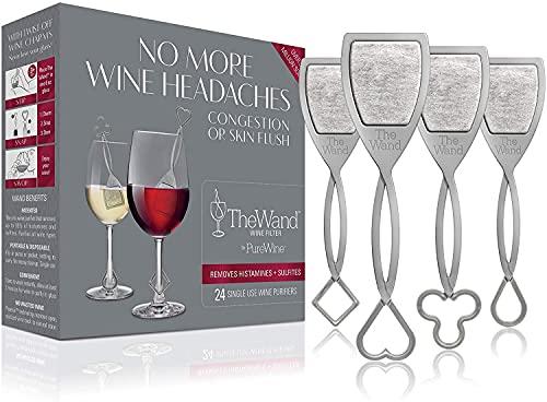 The Wand | El único filtro de vino que elimina las histaminas y los conservantes de sulfito | Saborea el vino, evita los efectos secundarios (24)
