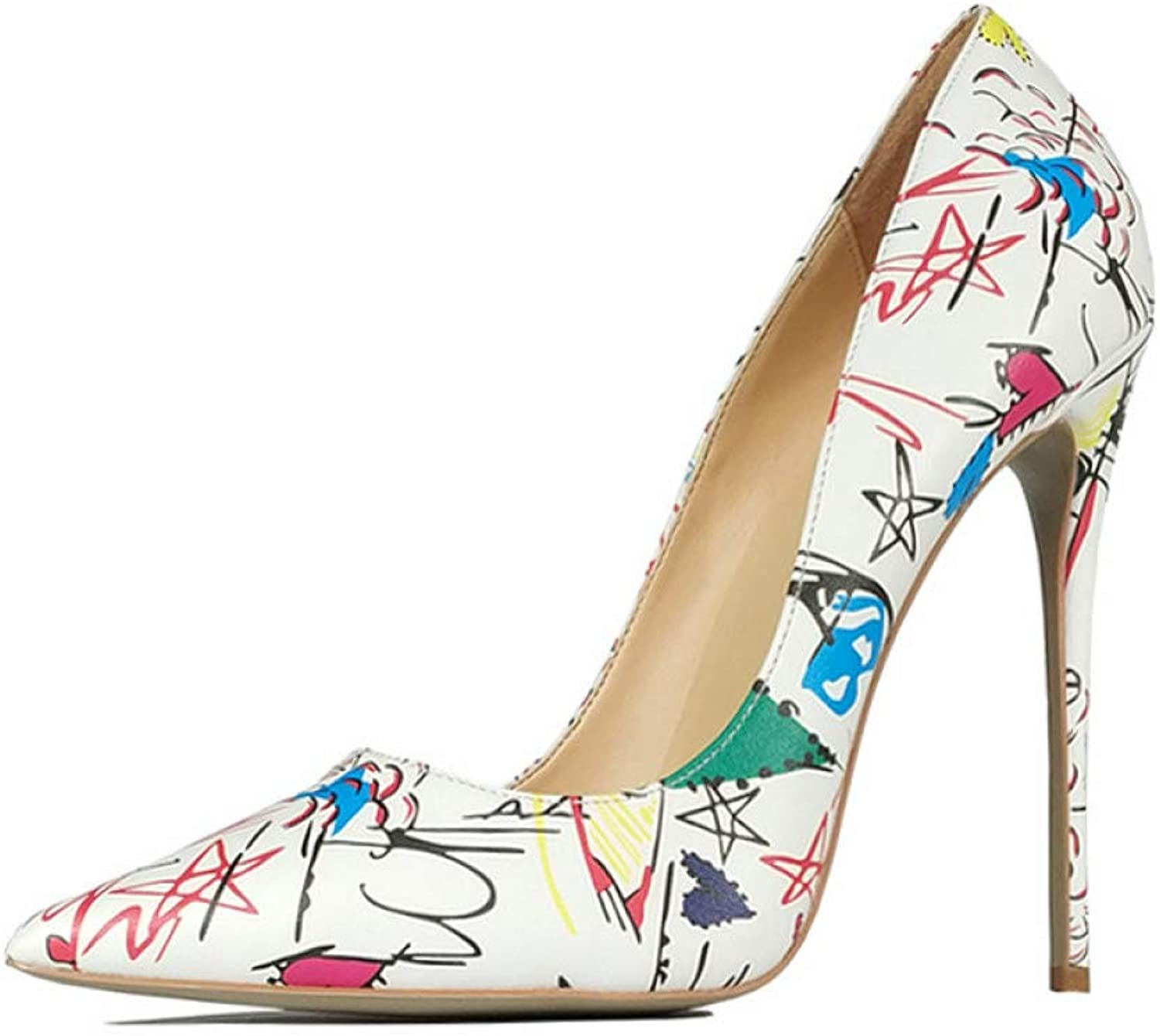 GanQuan2018 colorful High Heel Pumps for Women, Pointed Toe Wedding Party Shallow Sexy Stiletto
