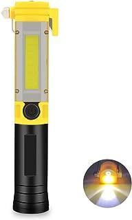Multi Tool LED Flashlight, Car Safety Flashlight Survival Flashlight COB LED Work Light with Magnetic Base Window Breaker Seat Belt Cutter for Car Emergency Camping Fishing