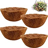 YIREAUD 4 piezas de forro de coco de repuesto redondo para cesta colgante, 12 pulgadas de fibra de coco para macetas de jardín