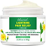 MAXIMUM STRENGTH, IMMEDIATE & LONG-LASTING PAIN RELIEF CREAM - Our pain relief arnica cream is an OTC medication formulated with maximum Arnica, MSM, Menthol & Camphor to naturally relieve lower back pain, arthritis pain, neck pain, shoulder pain, jo...