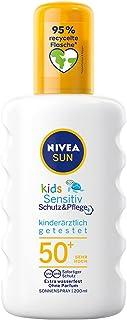 Nivea Sun Kids Sensitiv Zonnespray voor kinderen, per stuk verpakt (1 x 200 ml), spray met SPF 50+, zonnelotion voor de ge...