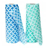 JEBBLAS Disposable Cleaning Towels Cleaning Wipe Dish Cloths Reusable Towels,Handy Cleaning Wipes Quick-Dry 50 Count/Roll (Blue&Green)