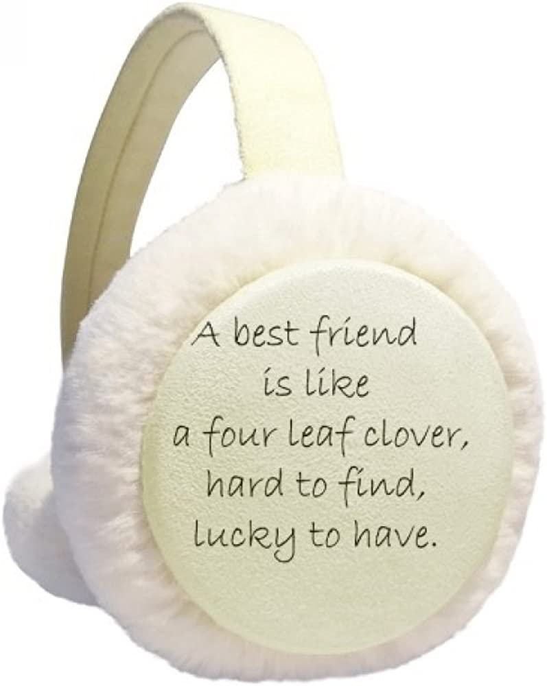 Best Friend Is New Orleans Free shipping / New Mall Like Four Leaf Ear Winter Quote Clover Cab Warmer