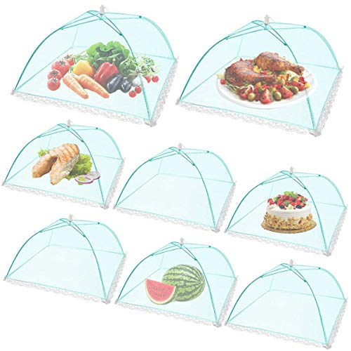(8Pack) Pop-up Picnic Food Tent Covers,...